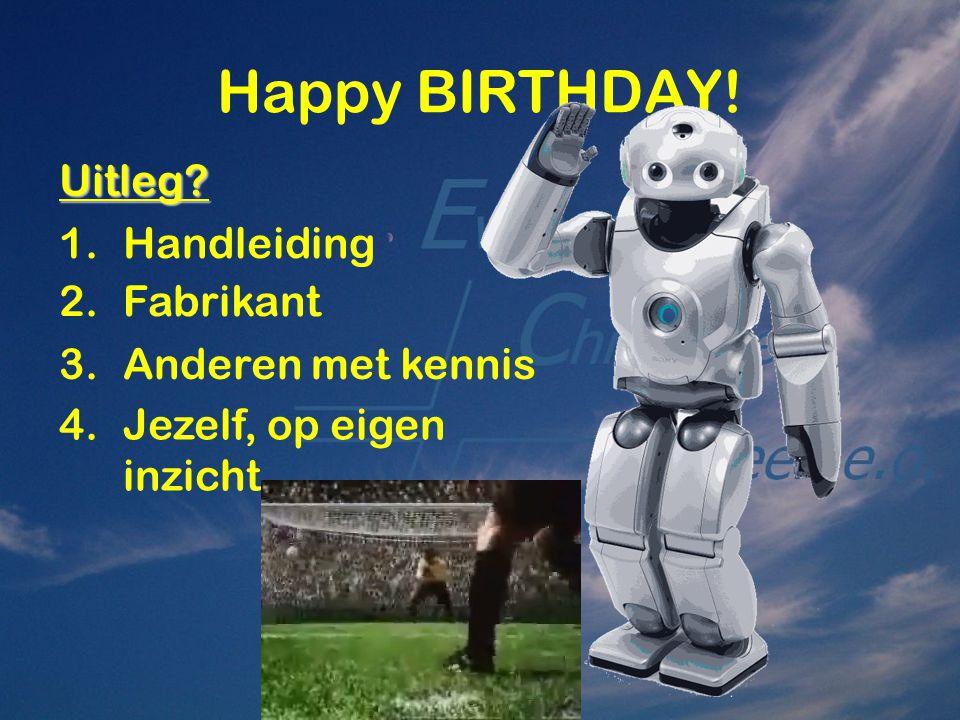 Happy BIRTHDAY! Uitleg Handleiding Fabrikant Anderen met kennis