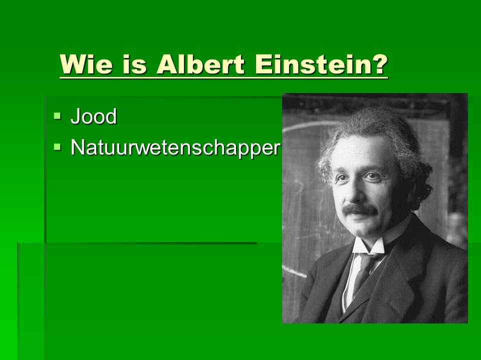 Wie is Albert Einstein Jood Natuurwetenschapper
