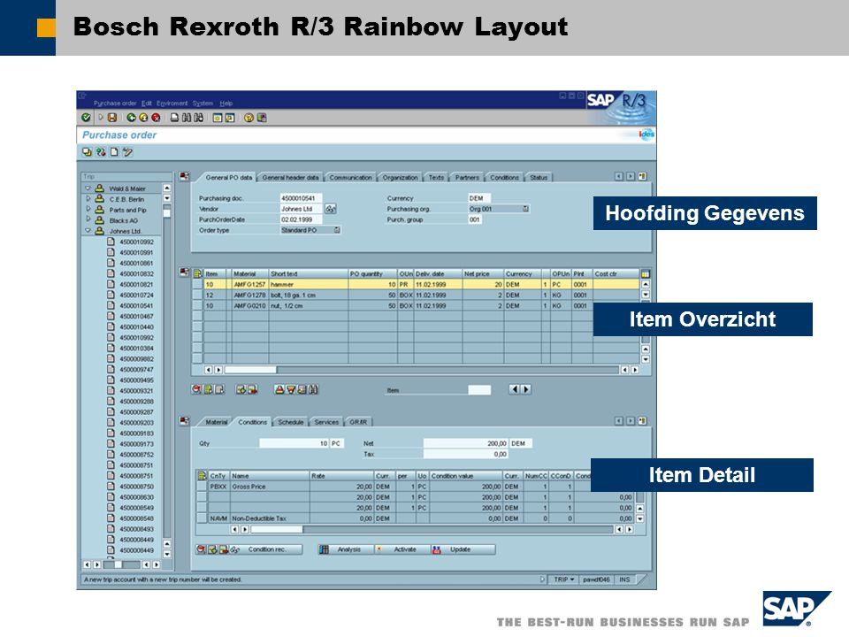 Bosch Rexroth R/3 Rainbow Layout
