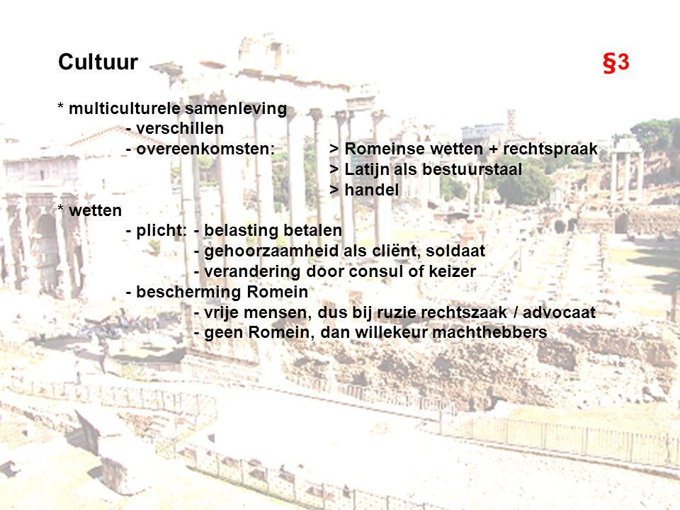 Cultuur §3