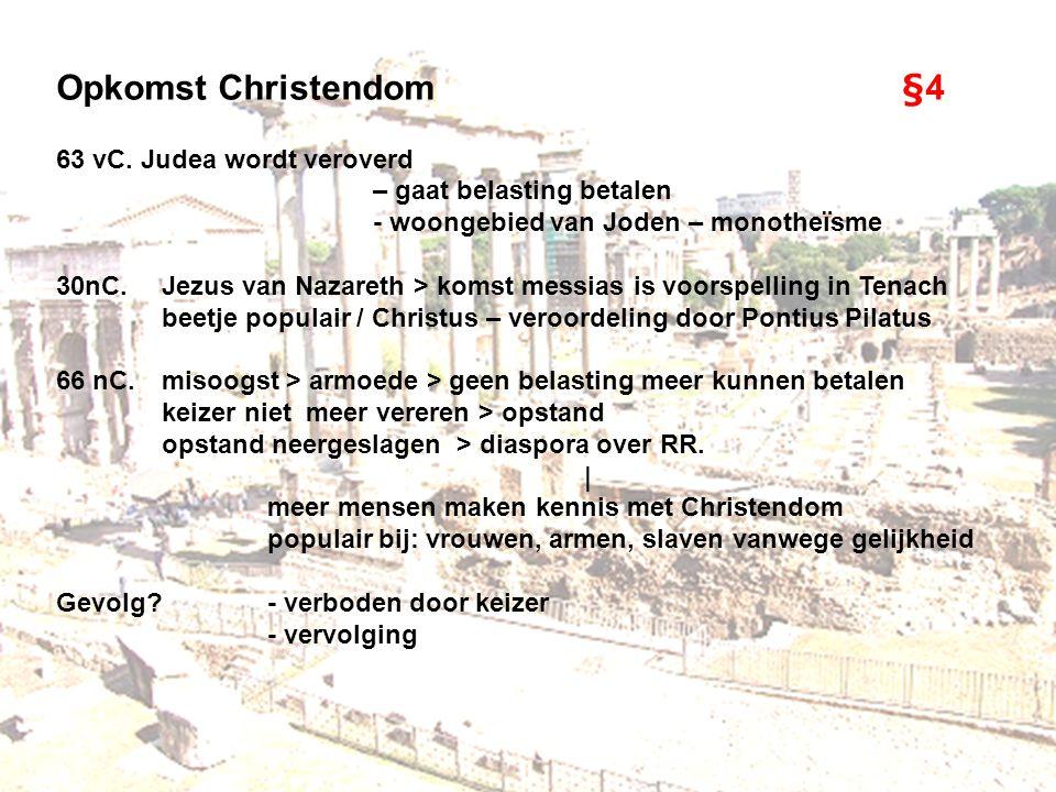 Opkomst Christendom §4 63 vC. Judea wordt veroverd