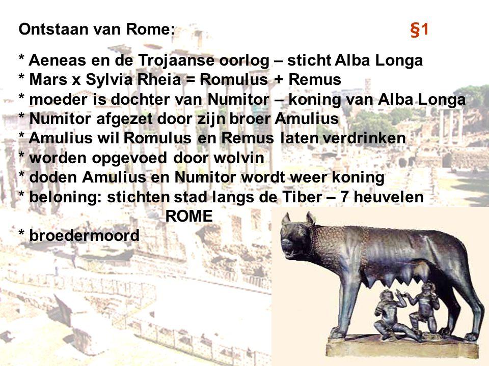 Ontstaan van Rome: §1