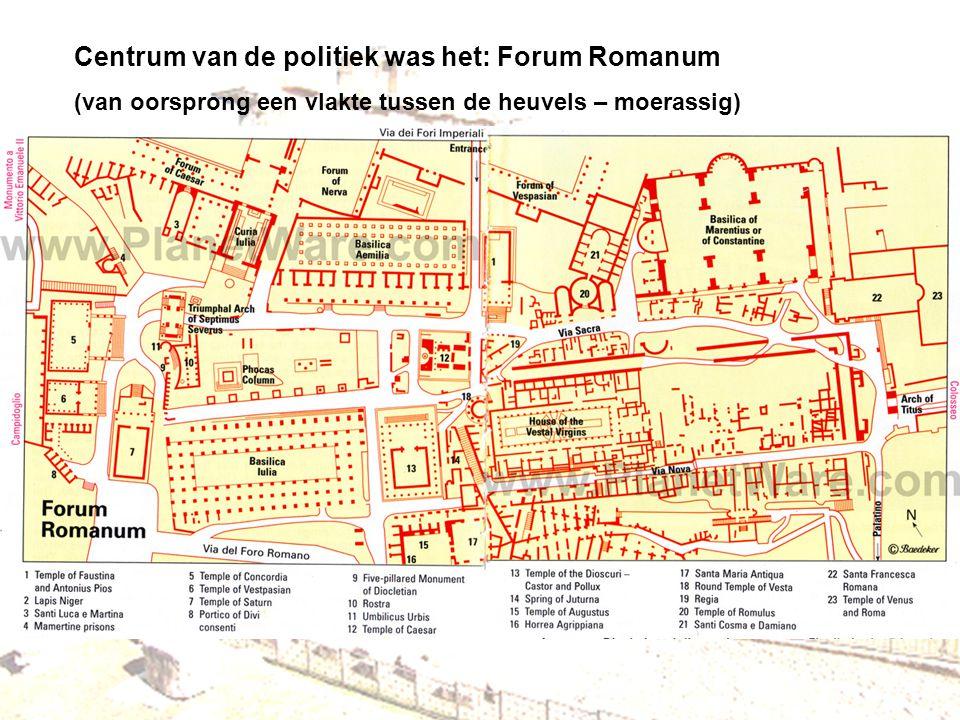 Centrum van de politiek was het: Forum Romanum