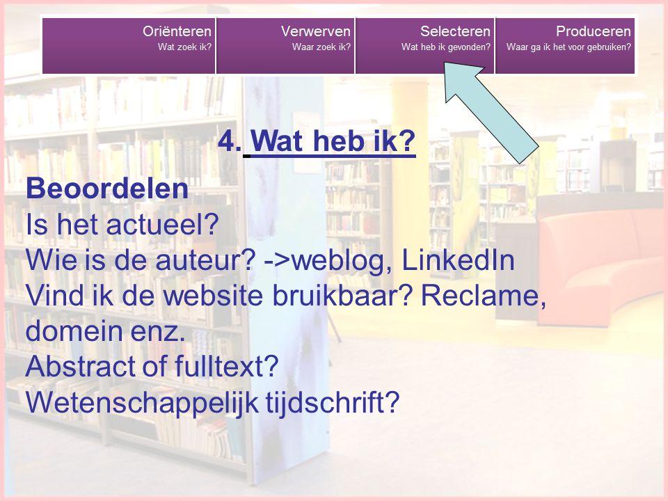 Wie is de auteur ->weblog, LinkedIn