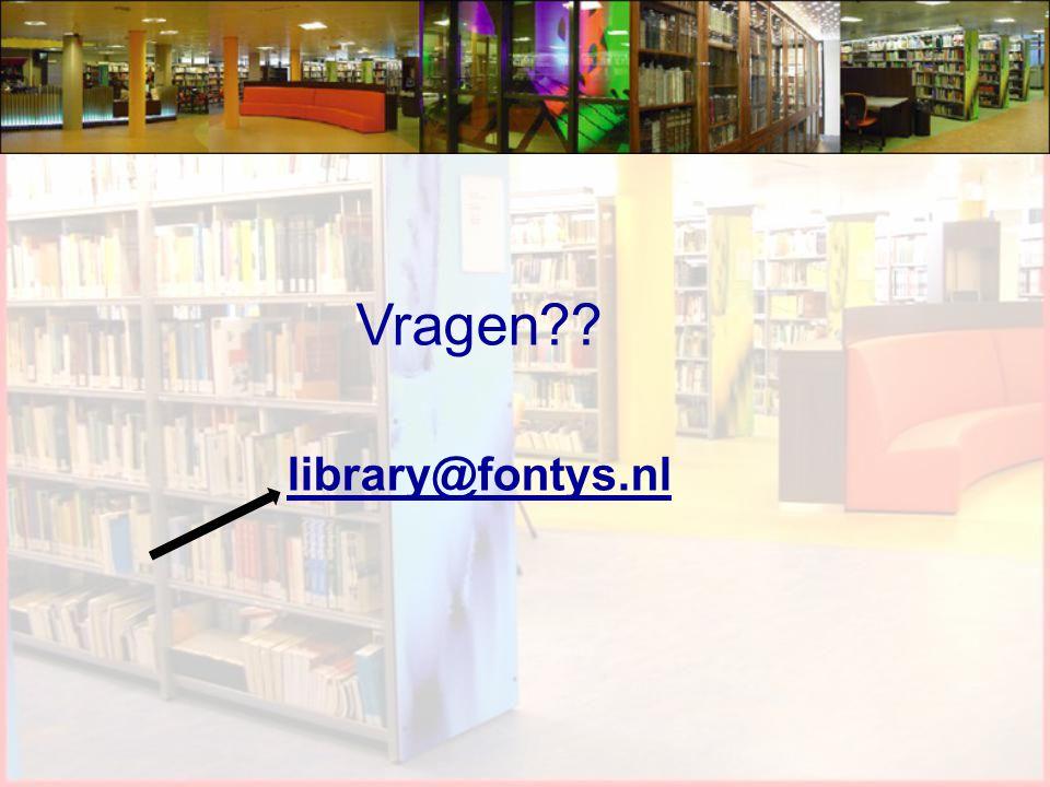 Vragen library@fontys.nl 27