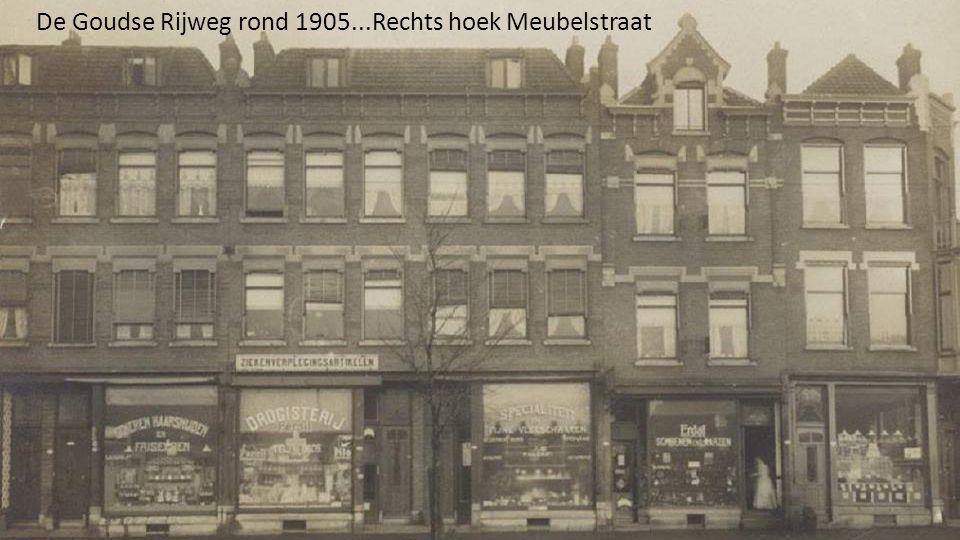 De Goudse Rijweg rond 1905...Rechts hoek Meubelstraat