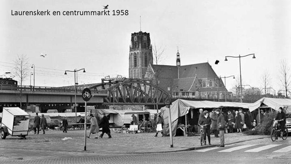 Laurenskerk en centrummarkt 1958