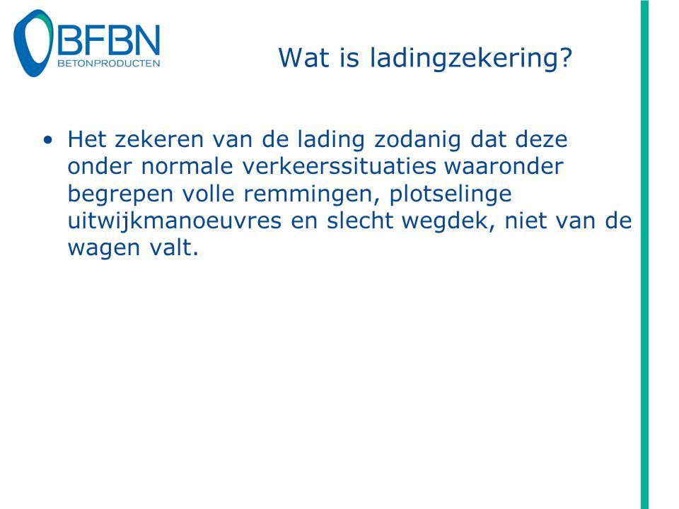 Wat is ladingzekering