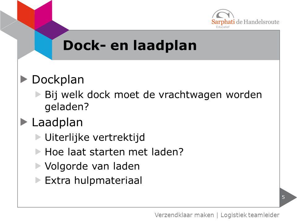Dock- en laadplan Dockplan Laadplan