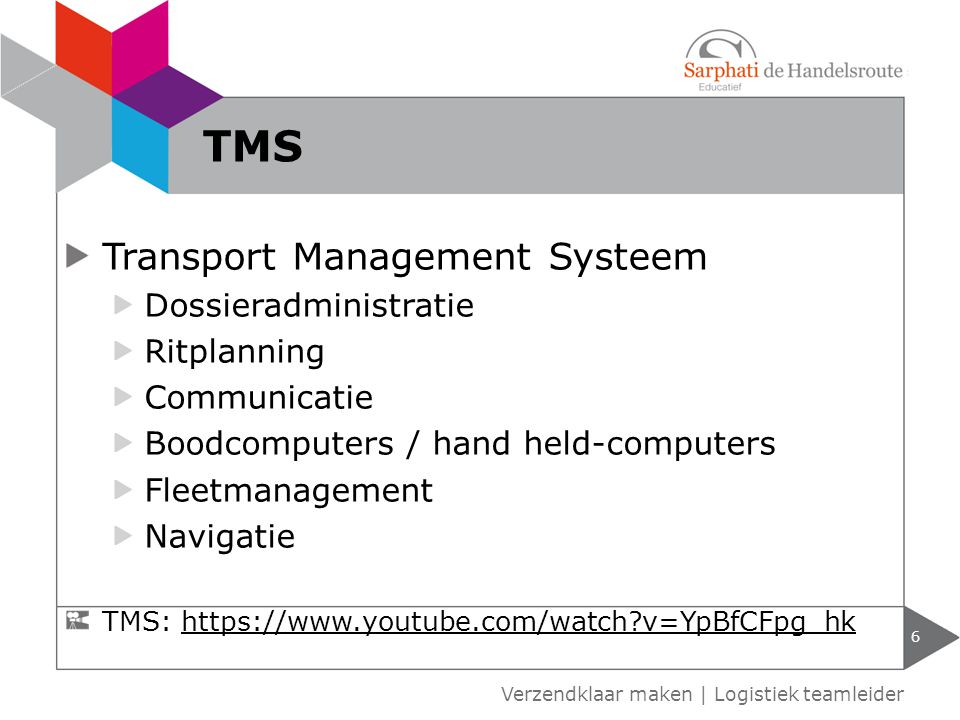 TMS Transport Management Systeem Dossieradministratie Ritplanning