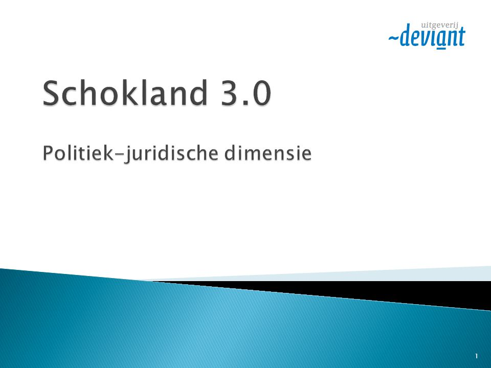Schokland 3.0 Politiek-juridische dimensie