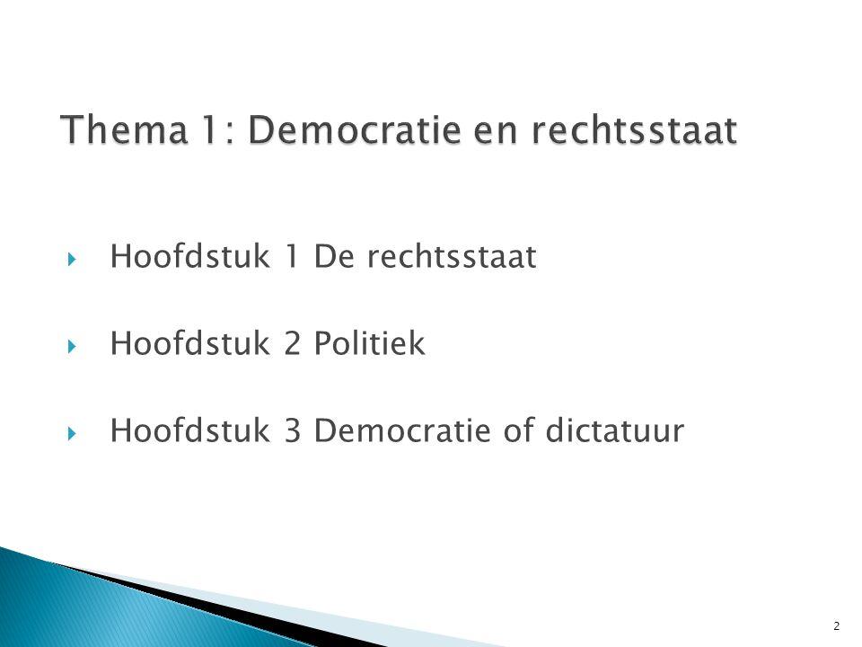 Thema 1: Democratie en rechtsstaat