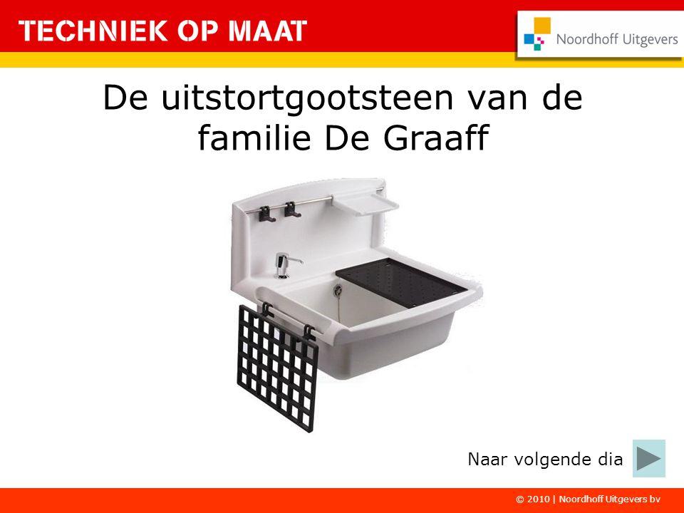 De uitstortgootsteen van de familie De Graaff