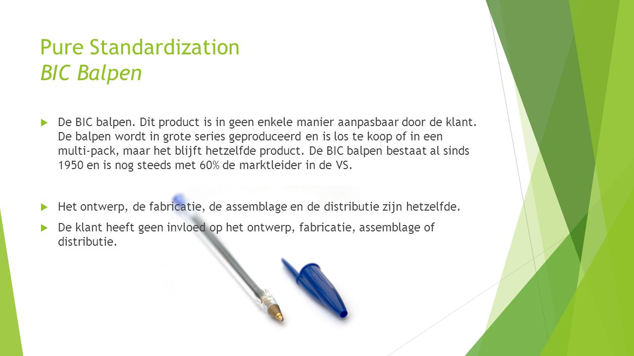 Pure Standardization BIC Balpen