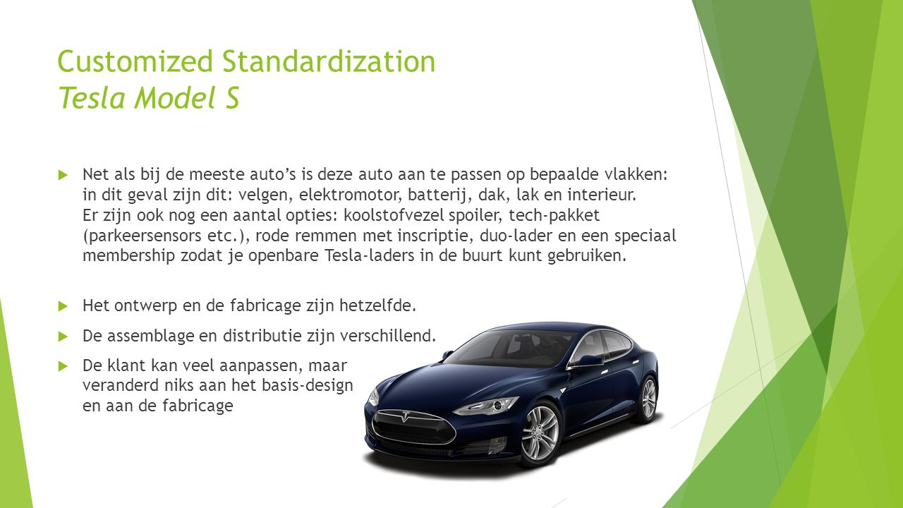 Customized Standardization Tesla Model S