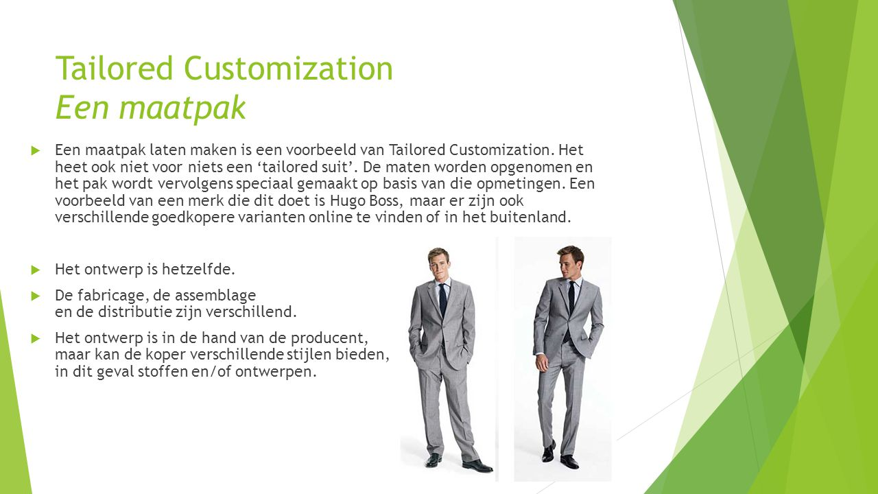 Tailored Customization Een maatpak