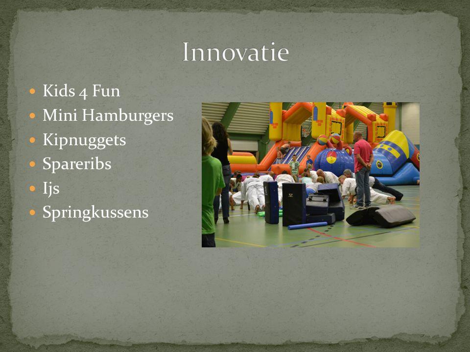 Innovatie Kids 4 Fun Mini Hamburgers Kipnuggets Spareribs Ijs