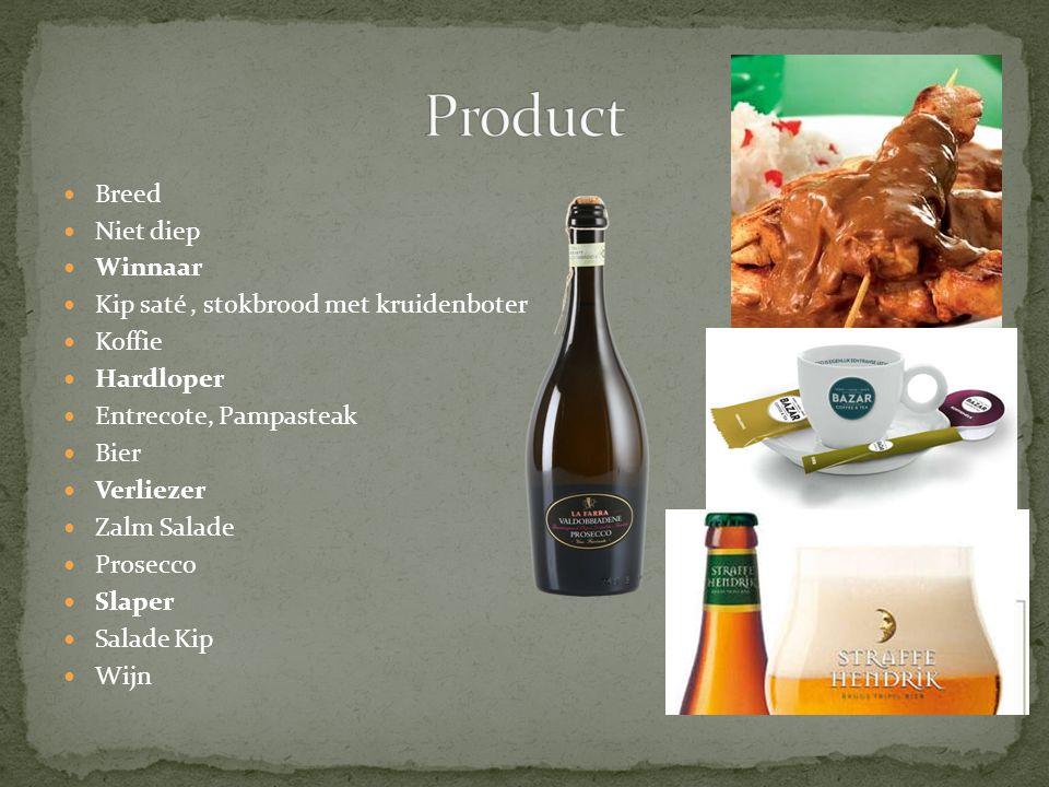 Product Breed Niet diep Winnaar Kip saté , stokbrood met kruidenboter