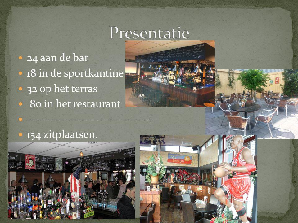 Presentatie 24 aan de bar 18 in de sportkantine 32 op het terras