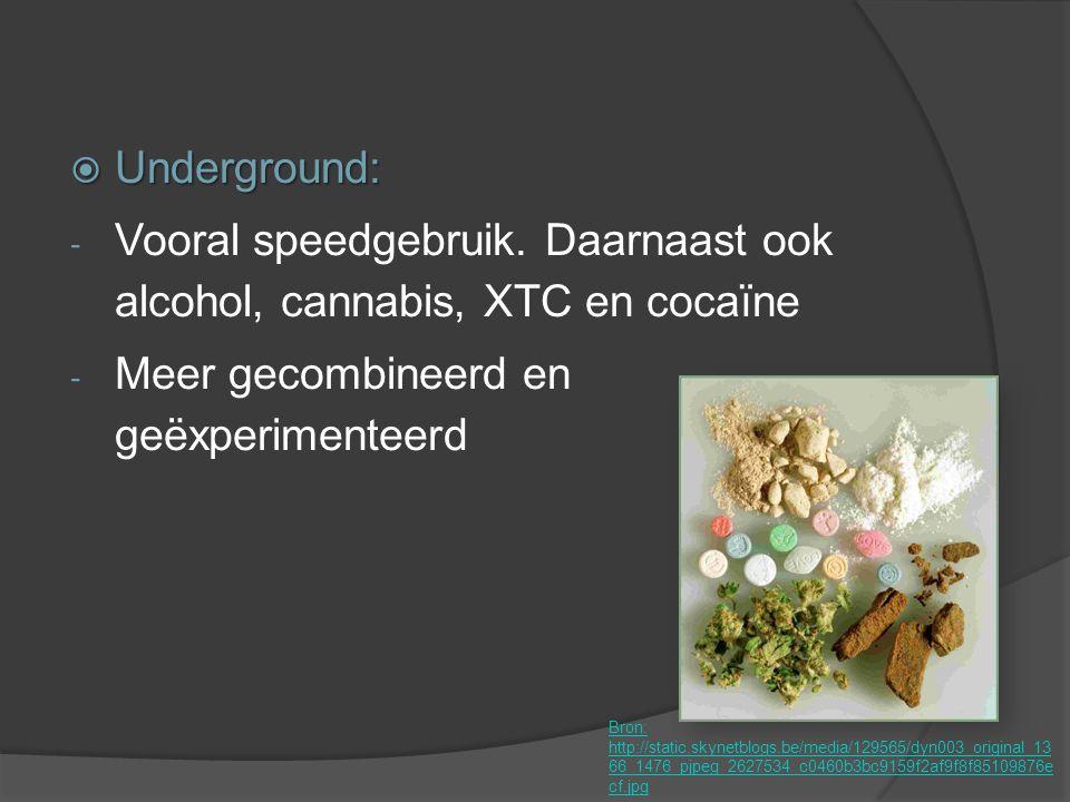 Vooral speedgebruik. Daarnaast ook alcohol, cannabis, XTC en cocaïne