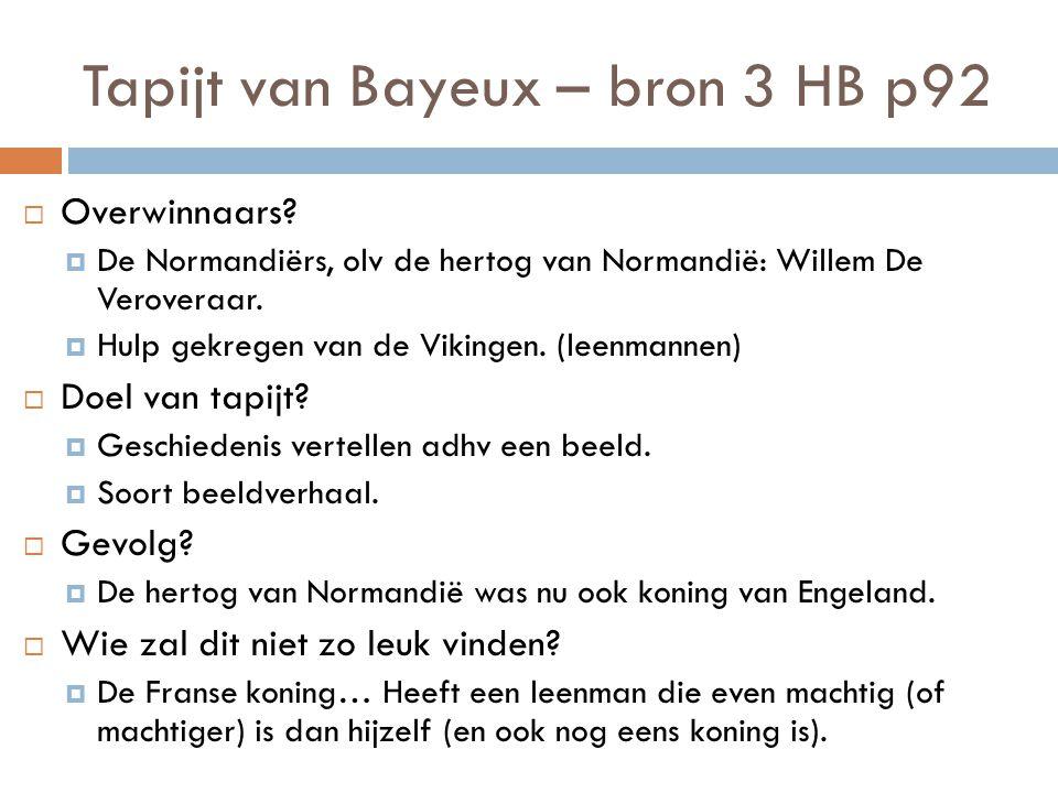 Tapijt van Bayeux – bron 3 HB p92