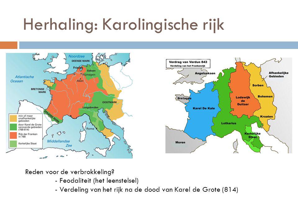 Herhaling: Karolingische rijk