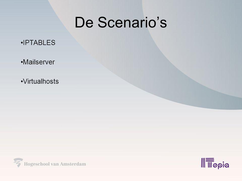 De Scenario's IPTABLES Mailserver Virtualhosts