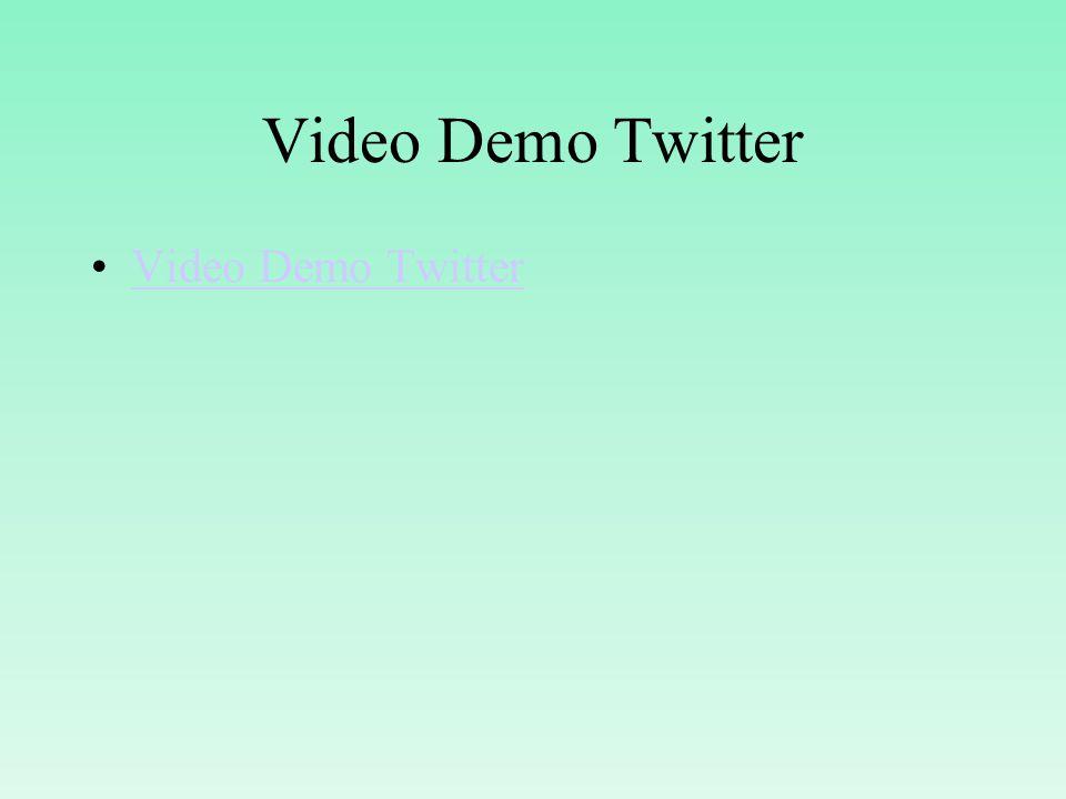Video Demo Twitter Video Demo Twitter