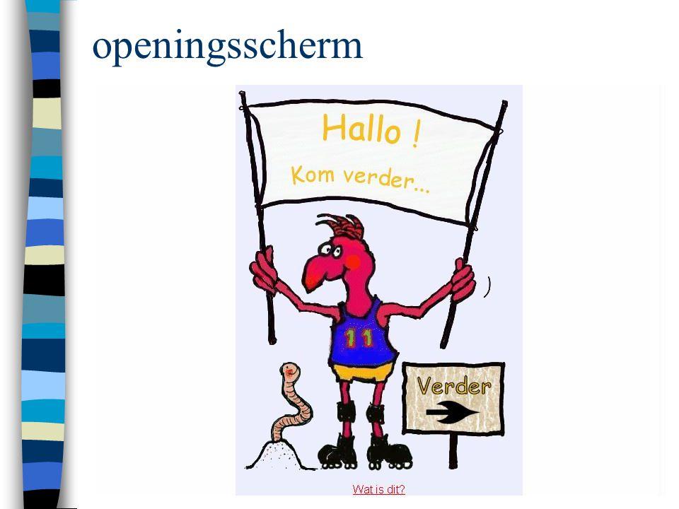 openingsscherm