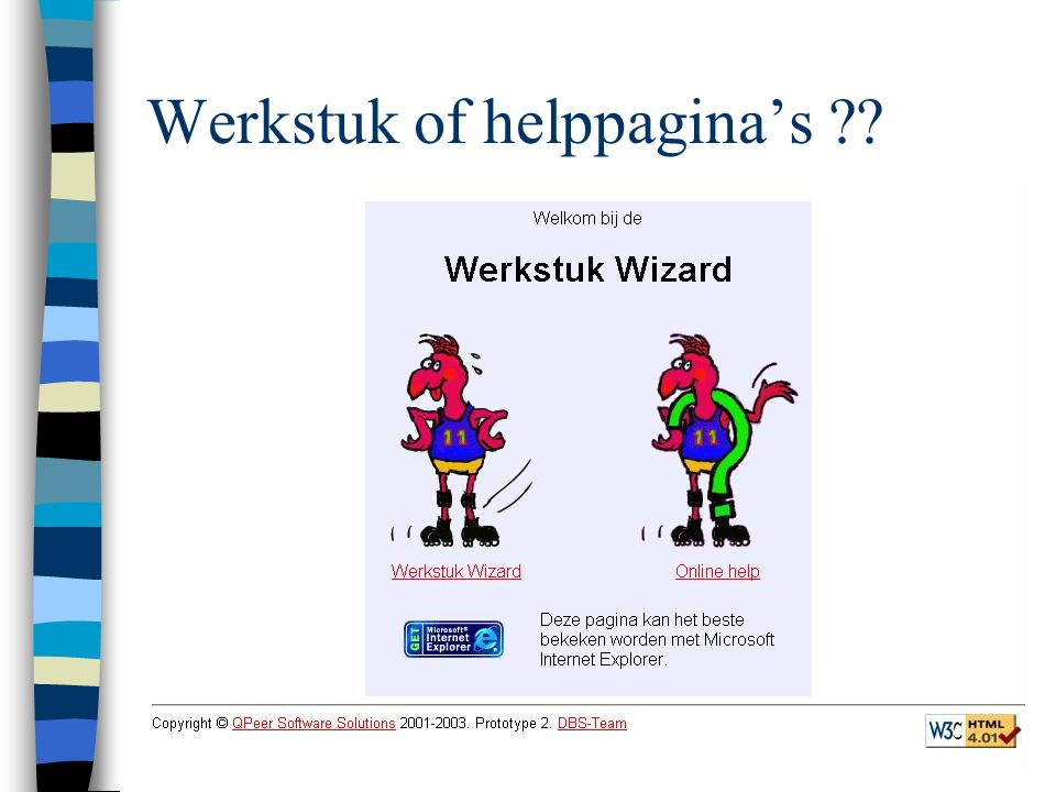 Werkstuk of helppagina's