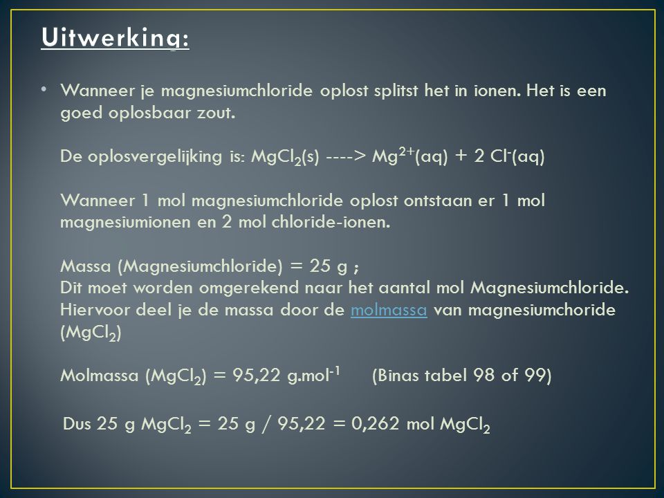 De chemische concentratie ppt download for Binas tabel 99