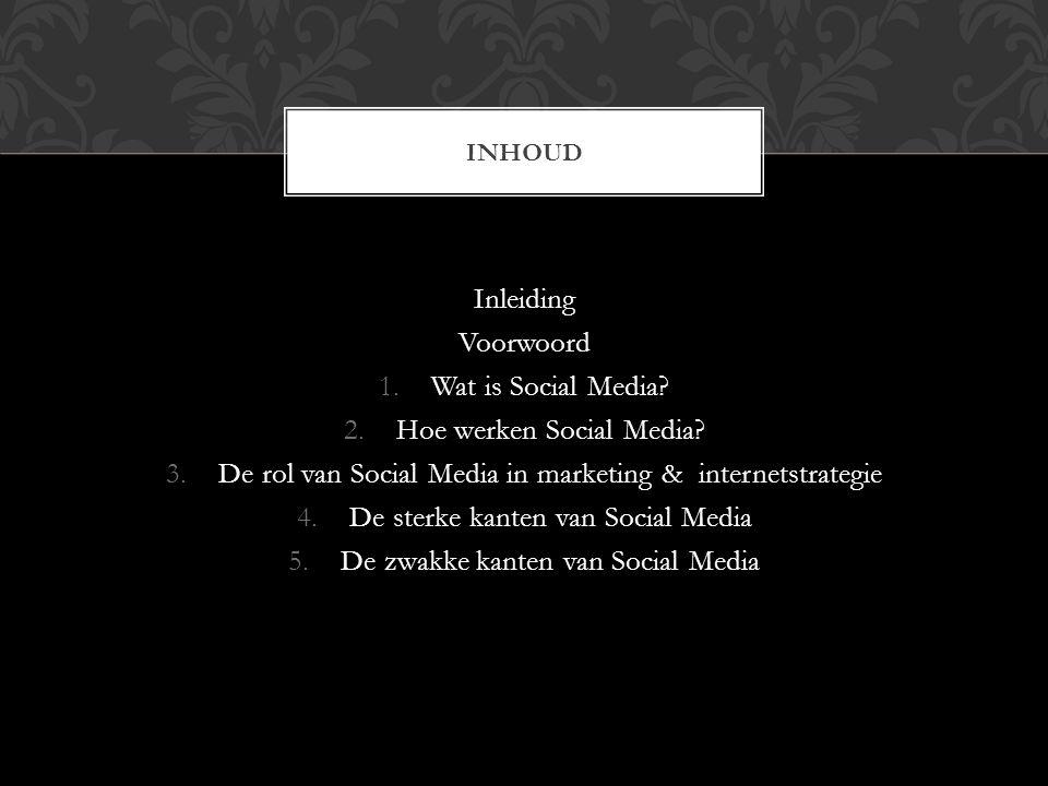 Hoe werken Social Media