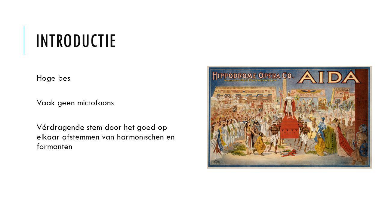 Introductie Hoge bes Vaak geen microfoons