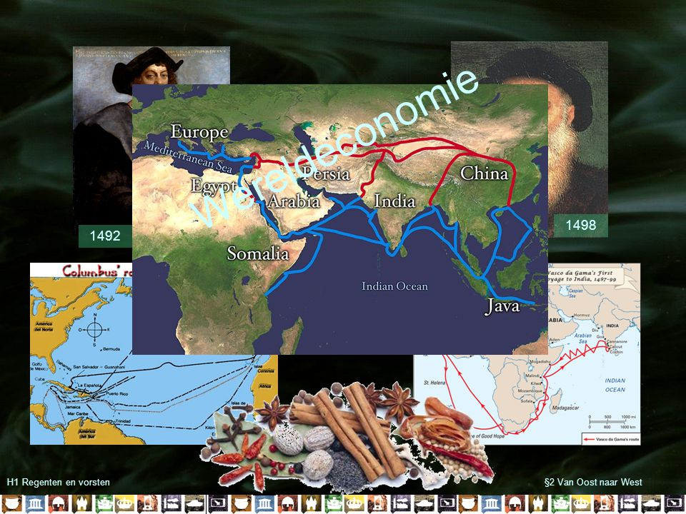 Wereldeconomie 1498 1492 H1 Regenten en vorsten §2 Van Oost naar West