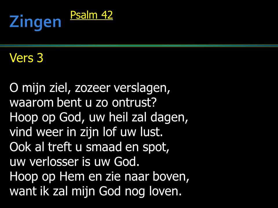 Zingen Vers 3 O mijn ziel, zozeer verslagen, waarom bent u zo ontrust