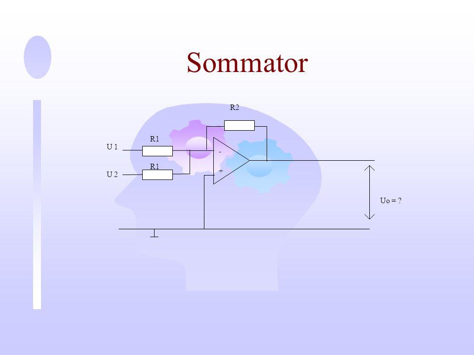 Sommator - + U 1 Uo = R2 R1 U 2