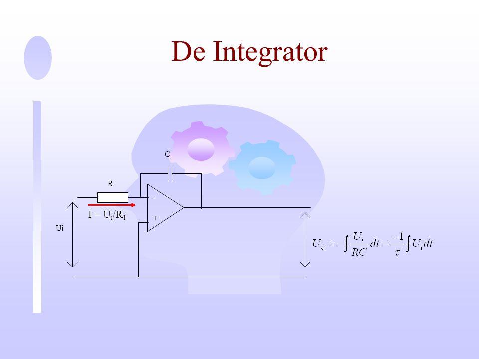 De Integrator - + Ui C R I = Ui/R1