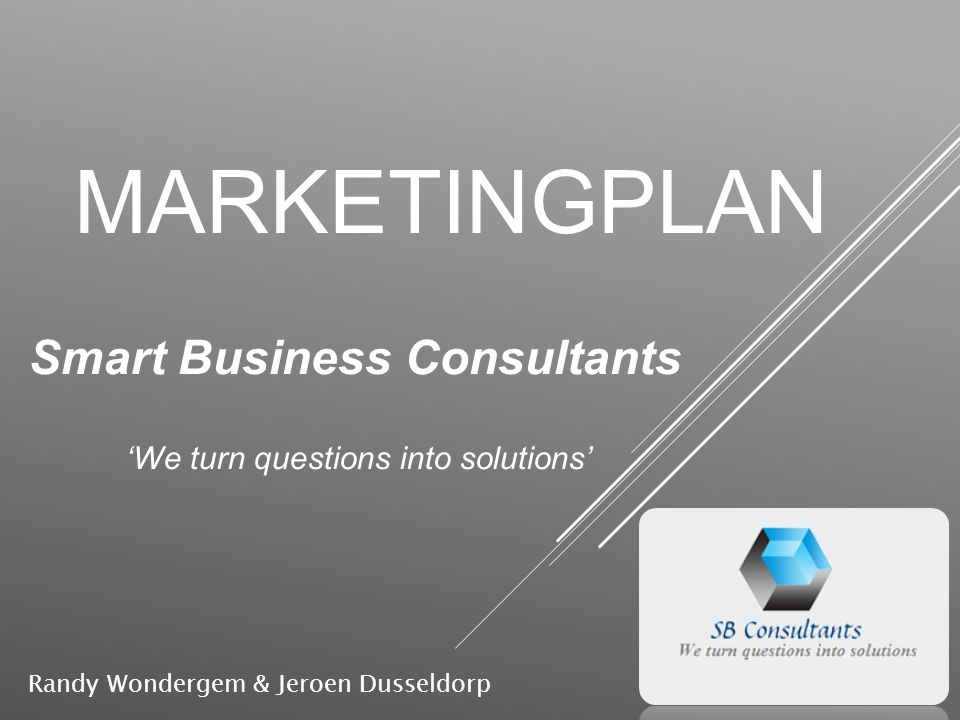 Smart Business Consultants 'We turn questions into solutions'