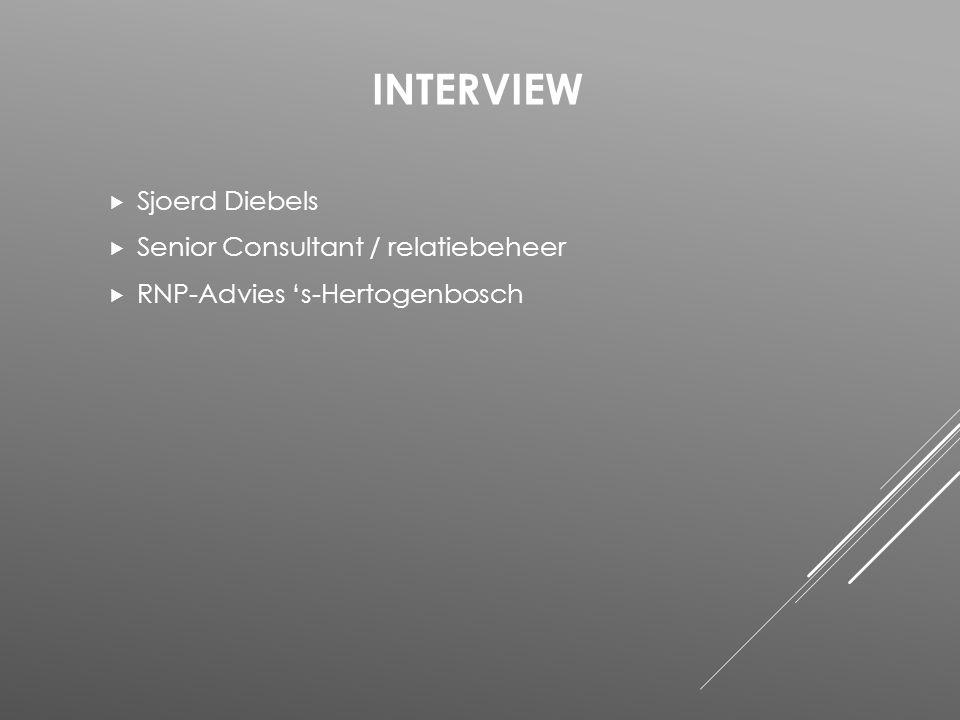 Interview Sjoerd Diebels Senior Consultant / relatiebeheer