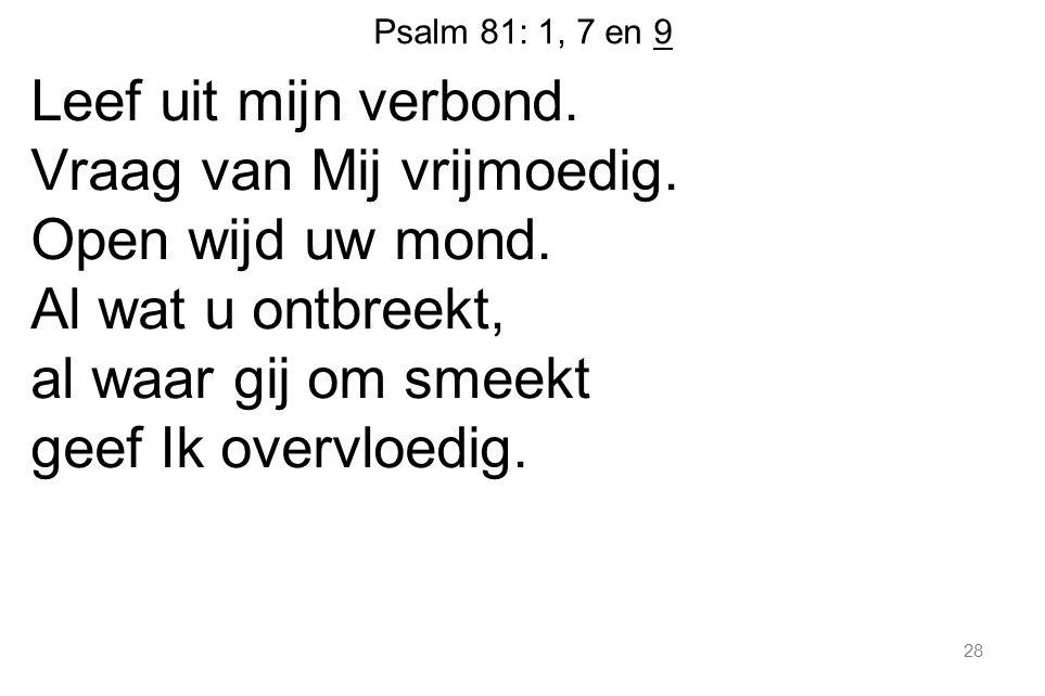 Psalm 81: 1, 7 en 9