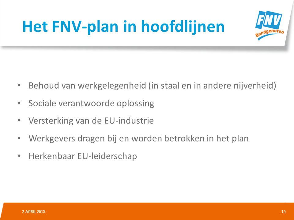 Het FNV-plan in hoofdlijnen