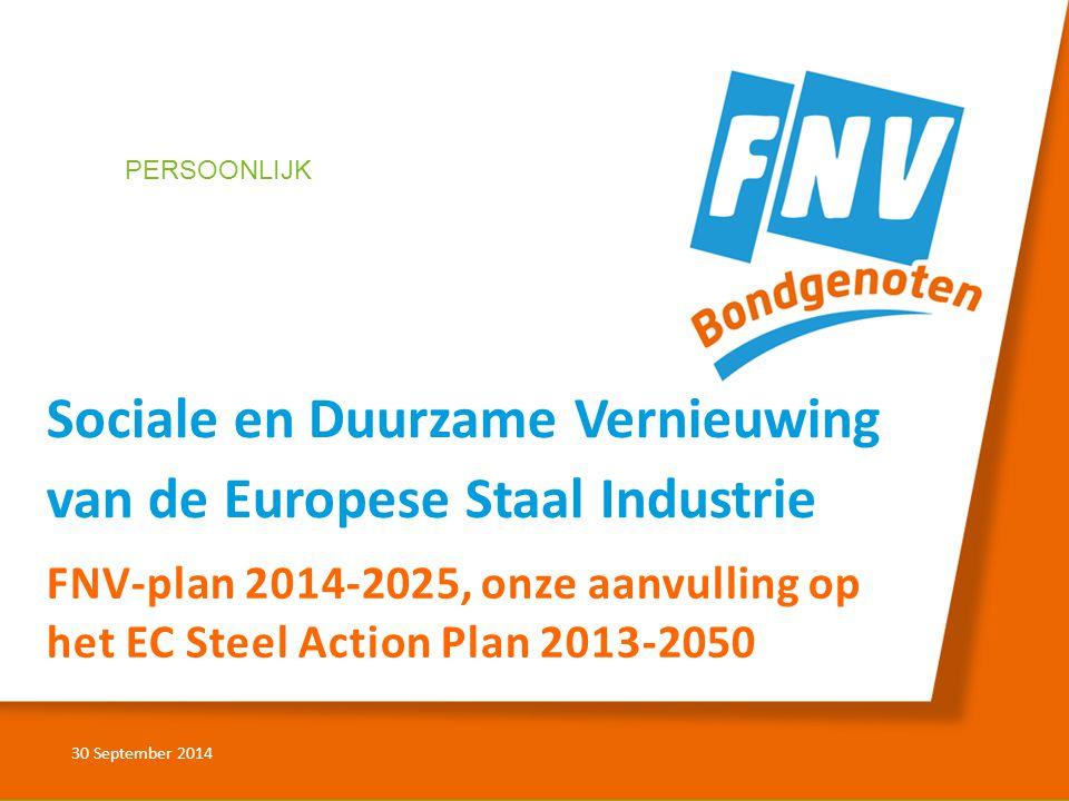 Sociale en Duurzame Vernieuwing van de Europese Staal Industrie