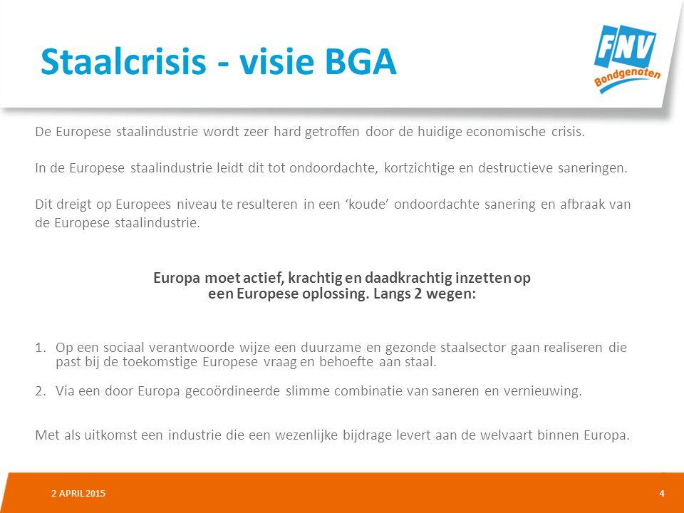 Staalcrisis - visie BGA