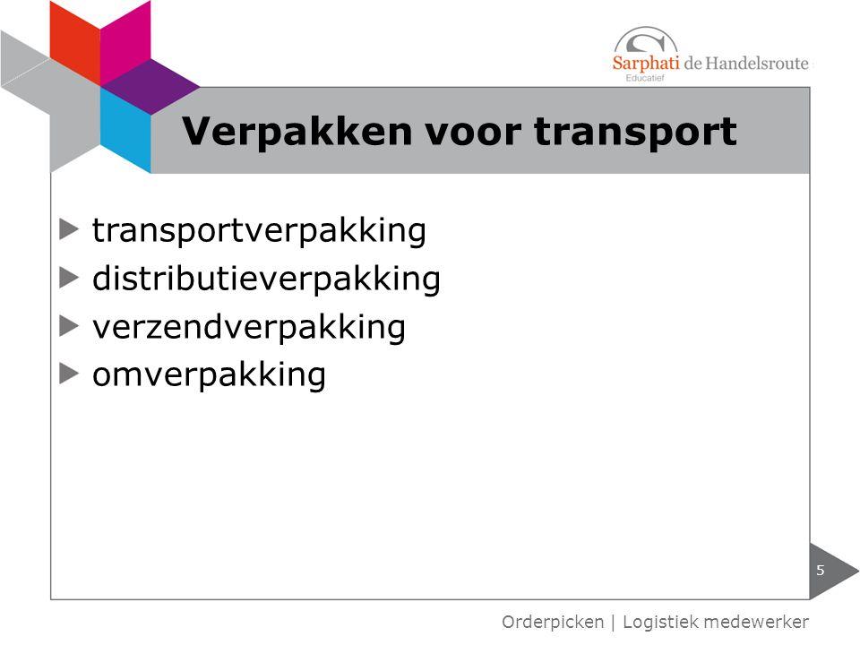 Verpakken voor transport