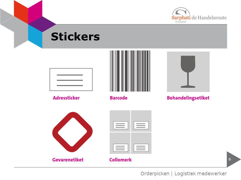 Stickers Orderpicken | Logistiek medewerker