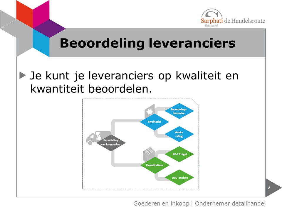 Beoordeling leveranciers