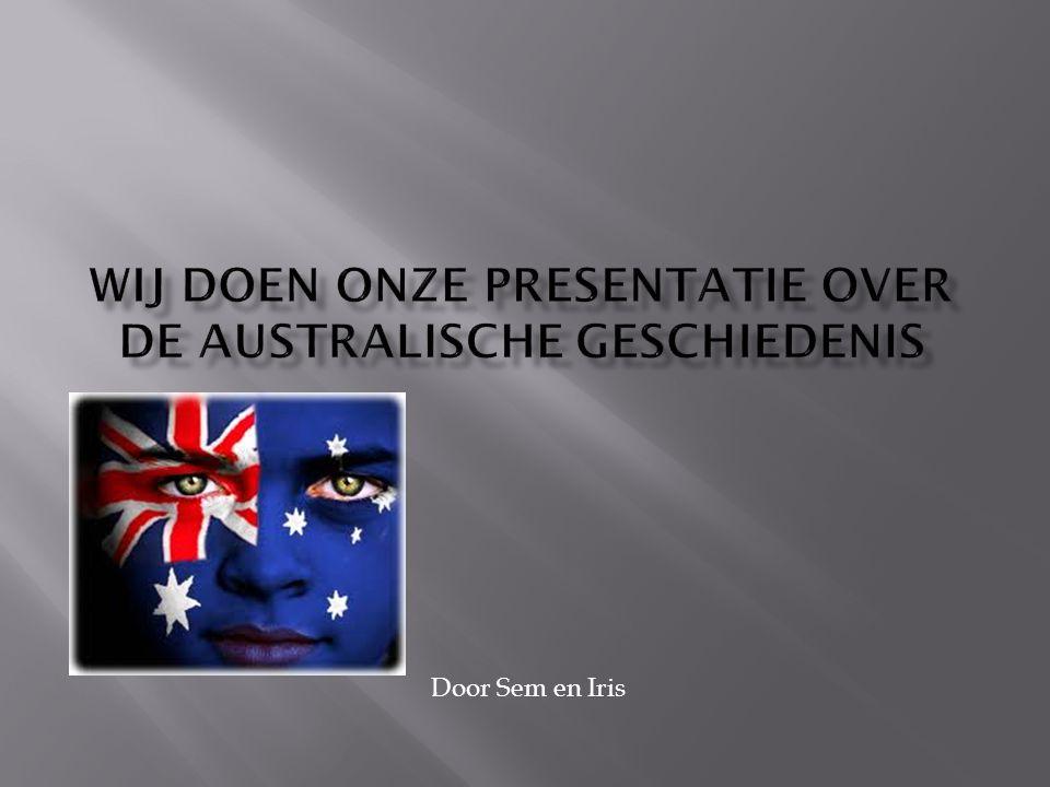 Wij doen onze presentatie over de Australische geschiedenis