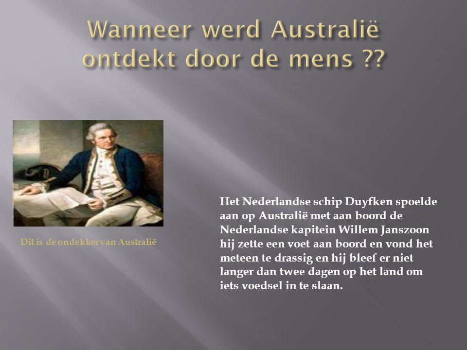 Wanneer werd Australië ontdekt door de mens