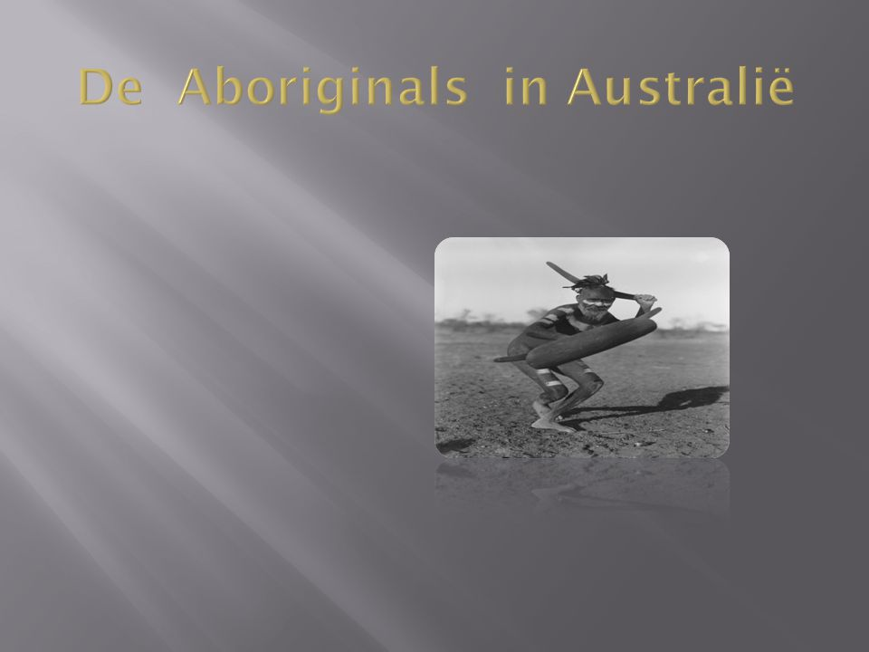 De Aboriginals in Australië