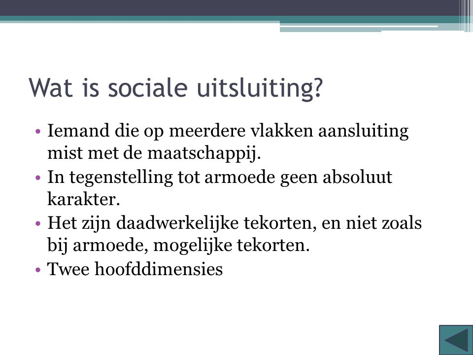 Wat is sociale uitsluiting